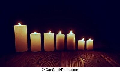 sombre, brûlé, bougies