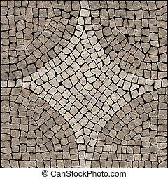 sombre, brun, marble-stone