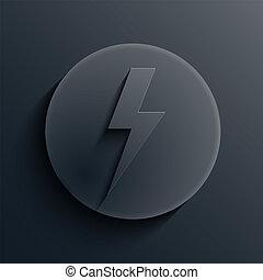sombre, cercle, vecteur, eps10, icon.
