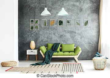 Osier, abat-jour, lampes. Osier, lighting., lampes,... photos de ...