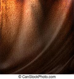 sombre, cuir, texture