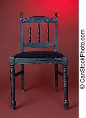 sombre, démodé, chaise bois
