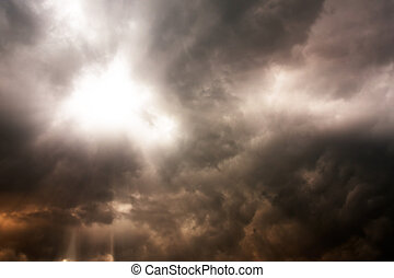 sombre, days., pluvieux, nuages