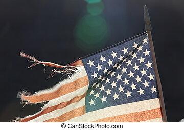 sombre, drapeau américain, fond