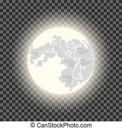 sombre, entiers, transparent, fond, lune