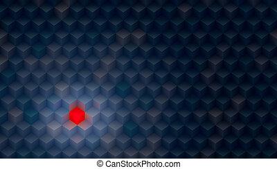 sombre, fait, arrière-plan coloré, cubes