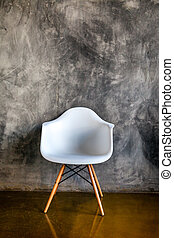 sombre, fauteuil, style, salle moderne