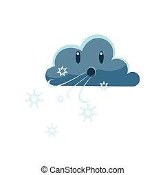 sombre, froid, souffler, nuage, vent