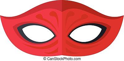 sombre, icône, style, masque, plat