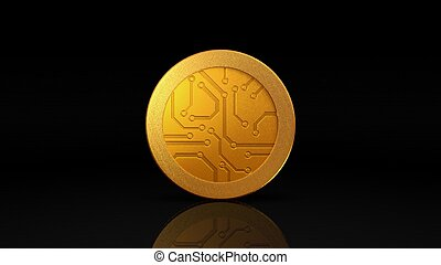 sombre, monnaie, monnaie, or, numérique