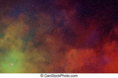 sombre, nebulae, profond, espace