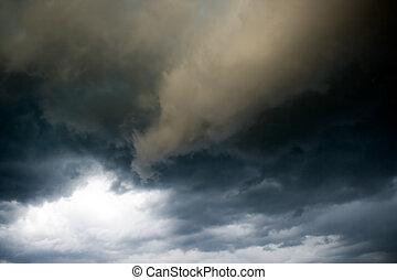 sombre, nuages