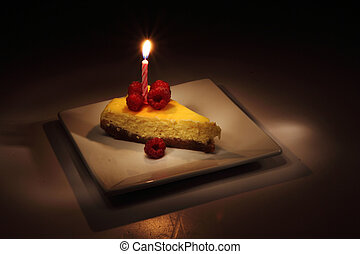 sombre, nuit, cheesecake