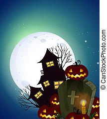sombre, nuit halloween