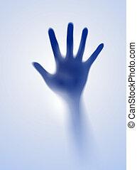 sombre, ouvert, deux mains