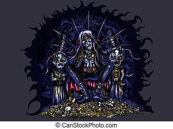 sombre, règle, vampire