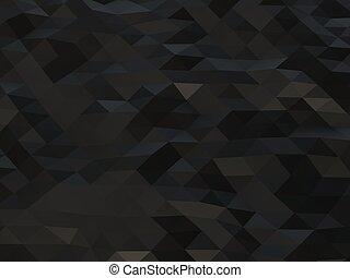 sombre, résumé, bas, triangulaire, poly, fond