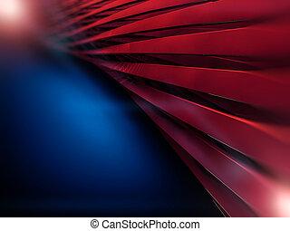 sombre, résumé, formes, arrière-plan., 3d., rouges