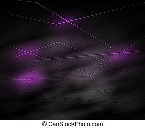 sombre, résumé, technologie, fond, violet
