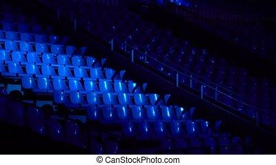 sombre, salle concert, sièges