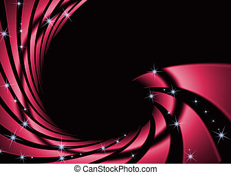 sombre, tourbillon, résumé, arrière-plan rouge