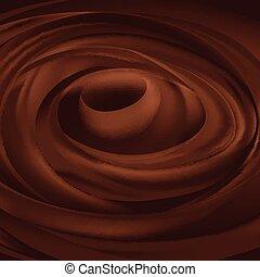 sombre, tourbillon, texture, chocolat