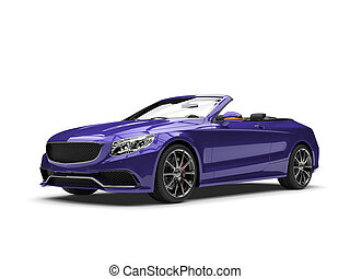 sombre, violet, moderne, luxe, voiture convertible