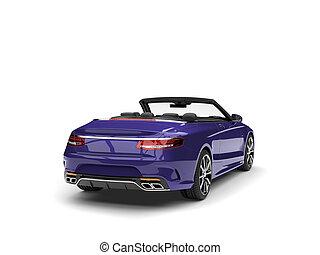 sombre, violet, moderne, luxe, voiture convertible, -, queue, vue