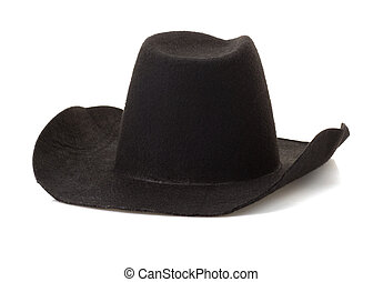 sombrero blanco, plano de fondo, vaquero