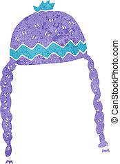 sombrero, caricatura, fresco