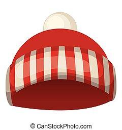 sombrero, color, blanco rojo, navidad