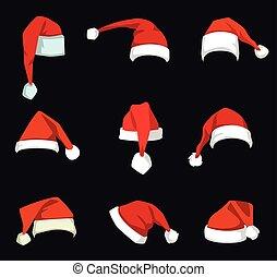sombrero de navidad, decoration.