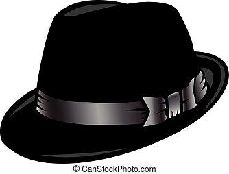 sombrero de sombrero de fieltro