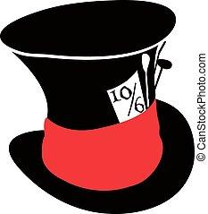 sombrero, enojado, sombrerero