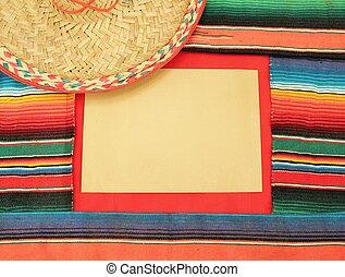 sombrero, fest, hintergrund, mexiko