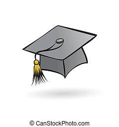 sombrero, graduado, estudiante