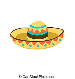 sombrero hat icon - Traditional mexican hat symbol. Sombrero...