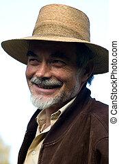 sombrero, hombre