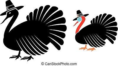 sombrero, la acción de gracia turquía, peregrino