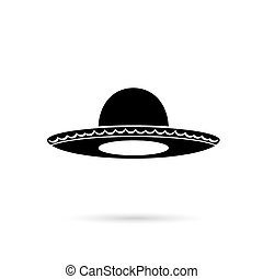 Sombrero Mexican hat colorful flat icon