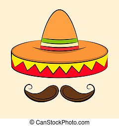 Sombrero Mexican Hat Colorful Vector Icon For Apps