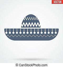 Sombrero Mexican hat symbol.