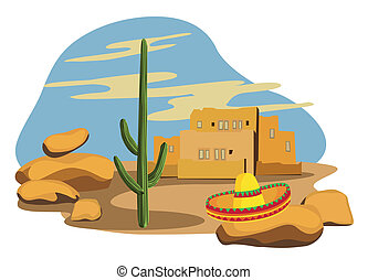 Sombrero on Cactus