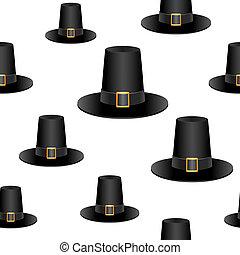 sombrero, peregrino, plano de fondo