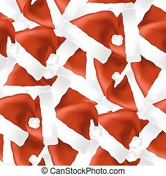 sombrero rojo, seamless, patrón