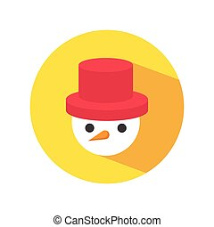 sombrero rojo, snowman