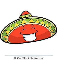 Sombrero Smiling - A cartoon Mexican sombrero smiling and ...