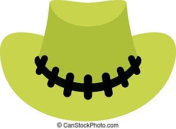 sombrero vaquero, icono, aislado