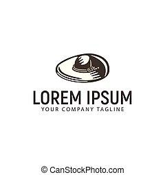 sombrero vaquero, logotipo, diseño, concepto, plantilla