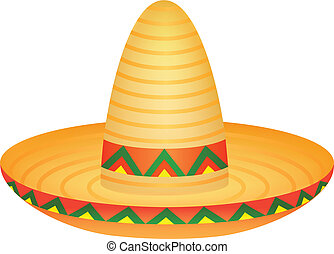 Sombrero - Vector illustration of sombrero hat